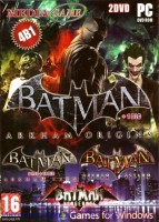 Антология Batman 4 в 1 (2DVD): Batman Arkham Origins + 1 DLC, Batman.Arkham City.v 1.03 + 14 DLC, Batman Arkham Asylum, Batman Vengeance