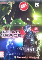 ALIEN ISOLATION (4B1) (2DVD) + DEAD SPACE-3 + OUTLAST + THE SWAPPER